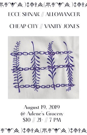 Ecce Shnak, Cheap City, Vanity Jones and Allomancer