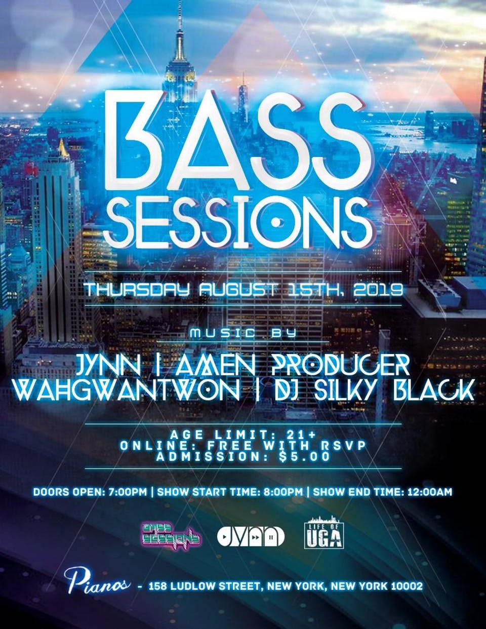 Bass Sessions with Jynn, Silky Black, Amen the Producer & Wah Gwon Twon
