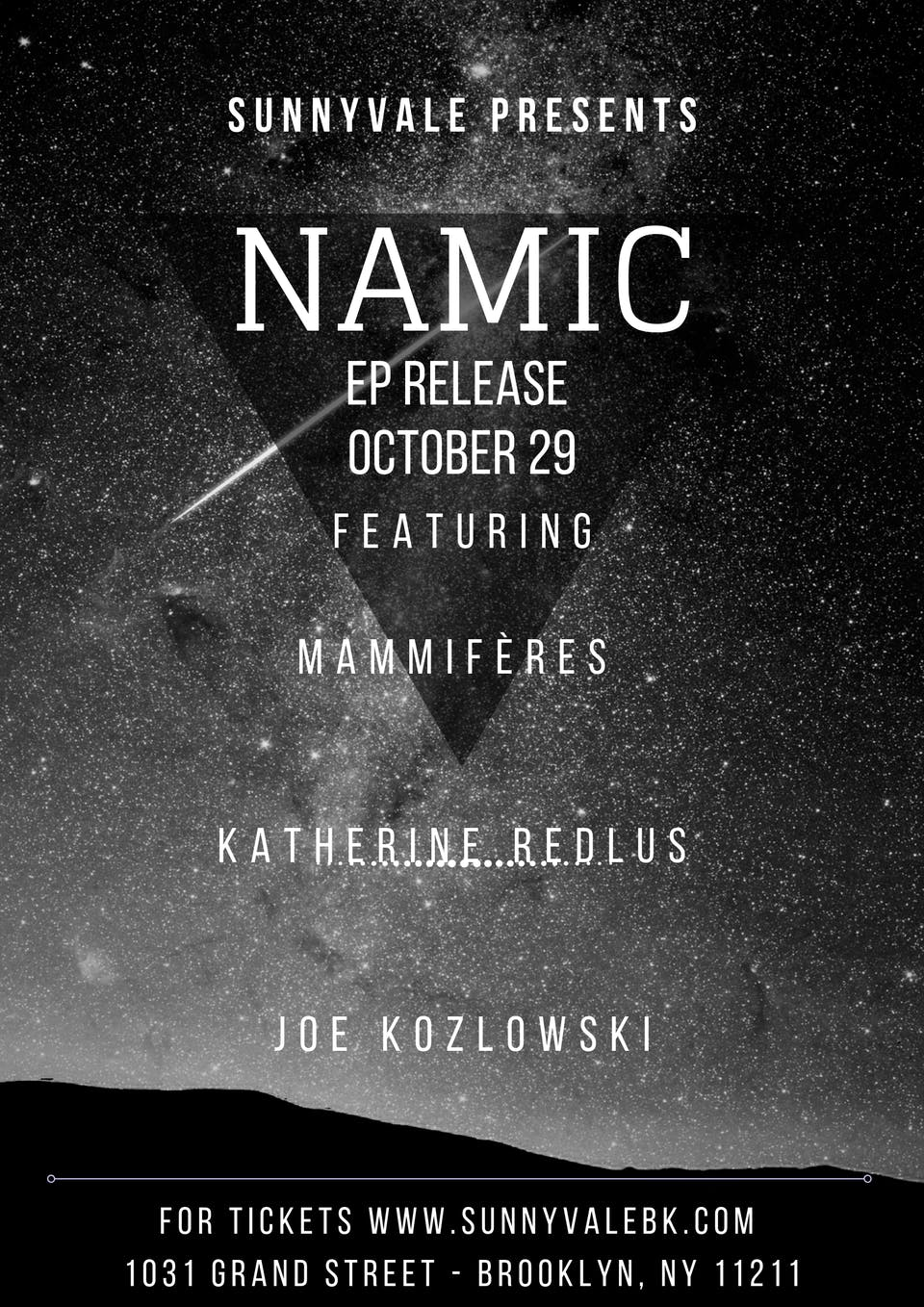 NAMIC,  Mammifères,  Katherine Redlus ,  Caleb Caming and the Heat