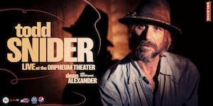 Todd Snider with special guest Dean Alexander