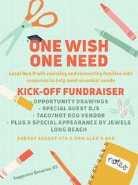 One Wish One Need- Kick- Off Fundrasier