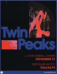 TWIN PEAKS • POST ANIMAL • OHMME
