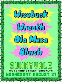 Wisebuck, Wreath, Ola Mesa, Bluish at Sunnyvale