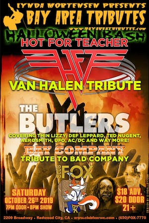Halloween Bash - Hot For Teacher w/The Butlers & Bay Company