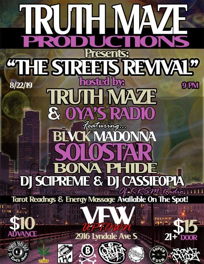 "TRUTHMAZE ""The Streets Revival"" feat. BLVCK MADONNA, SOLOSTAR & many more"