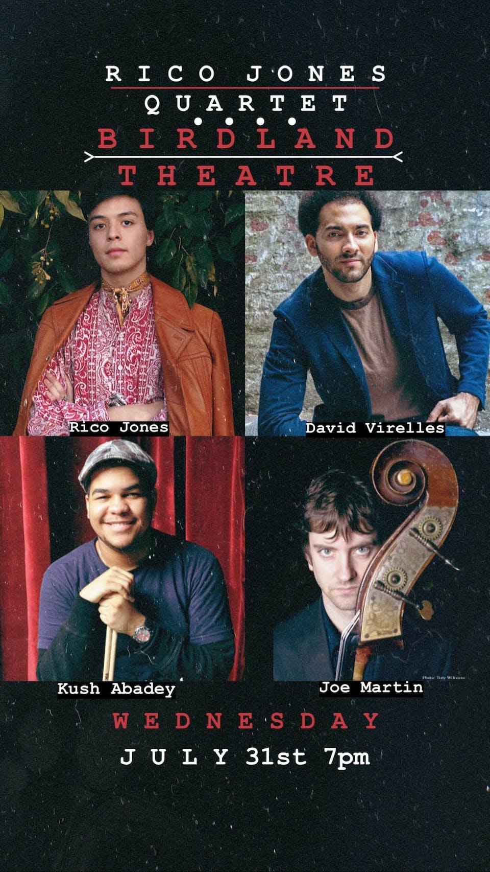 Rico Jones Quartet with David Virelles, Kush Abadey, and Joe Martin