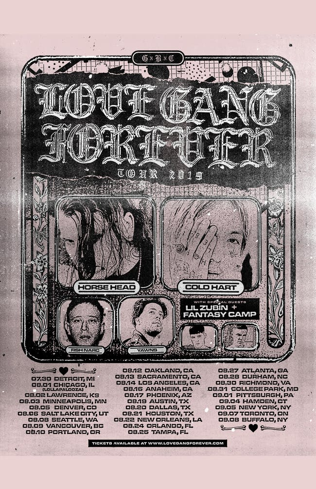 THE LOVE GANG FOREVER TOUR 2019 (members of Gothboiclique)