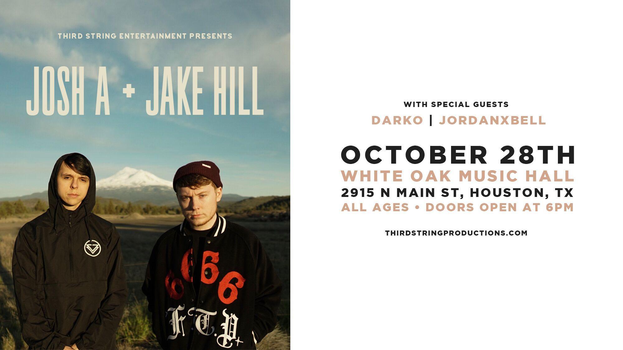 Josh A // Jake Hill at White Oak Music Hall