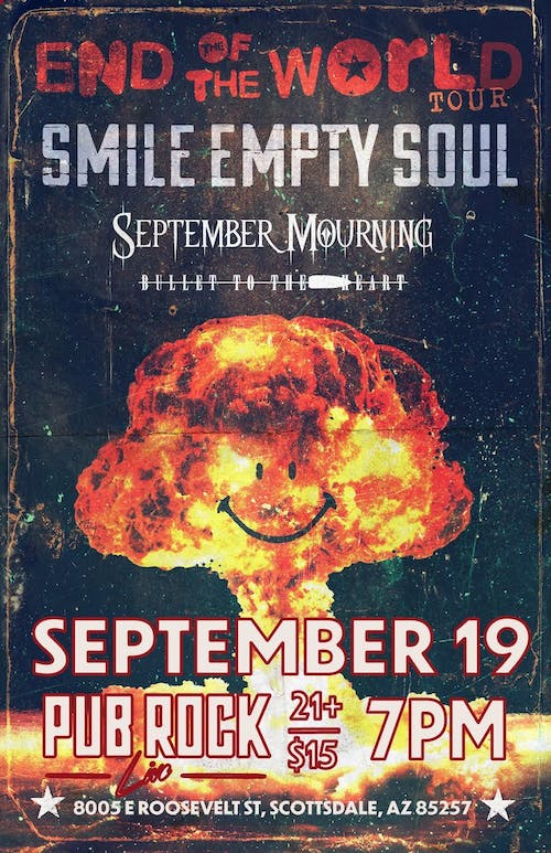 Smile Empty Soul: End Of The World Tour