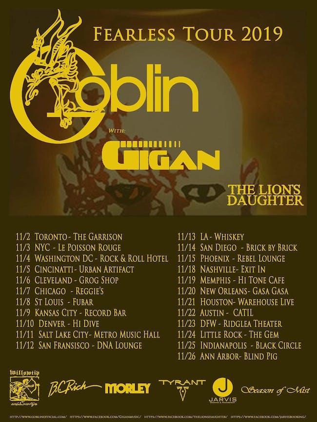Goblin - Fearless Tour 2019
