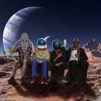 Dilemastronauta and The Cosmic crew plus friends Fiesta