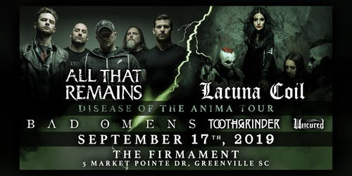 All That Remains w/ Lacuna Coil & Bad Omens + More | 9.17.19
