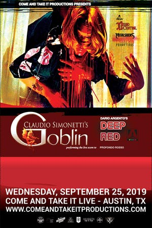 CLAUDIO SIMONETTI'S GOBLIN: Performing the Deep Red / Profondo Rosso