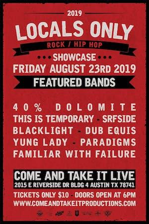 LOCALS ONLY: Rock / Hip Hop Showcase