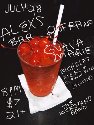 Nicholas Merz (from Seattle), Rufrano, Guava Marie, and The Kickstand Band