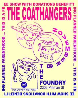 [FREE] The COATHANGERS • Control Top • Jacuzzi Boys - benefiting Planned P