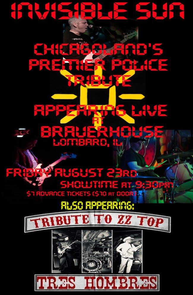 Invisible Sun - Police Tribute w/ Tres Hombres - ZZ Top Tribute