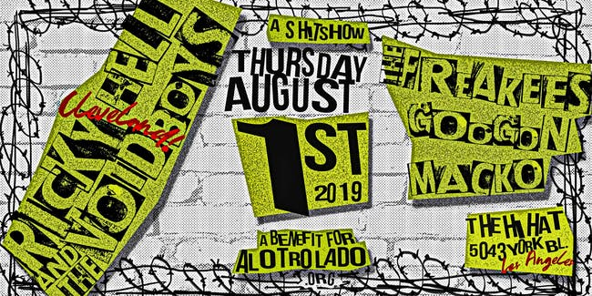 Benefit for Al Otro Lado ft. Ricky Hell & The Voidboys, The Freakees & more