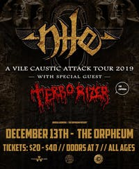 Nile & Terrorizer at the Orpheum