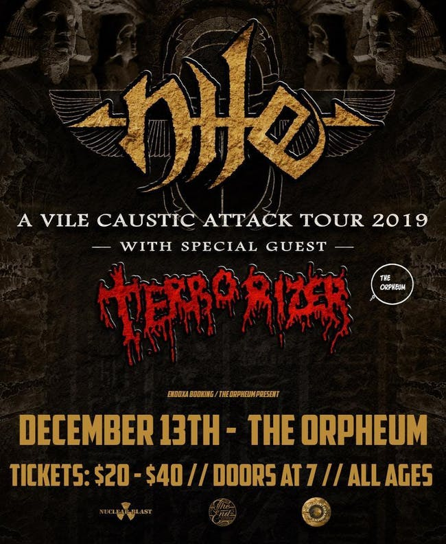 Nile & Terrorizer at the Orpheum