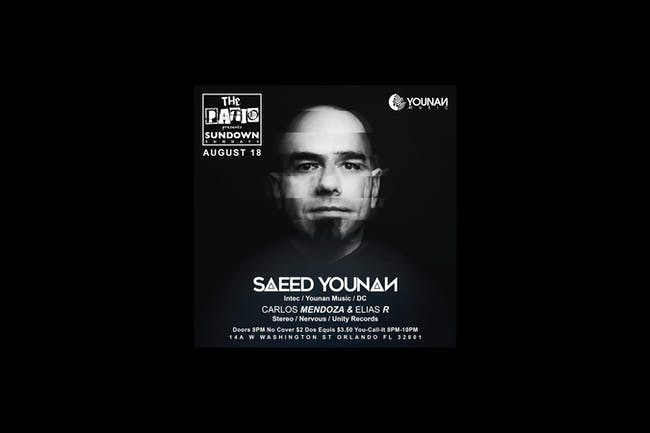 Sundown Sundays @ The Patio w/ Special Guest Saeed Younan