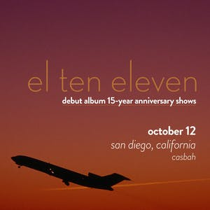 El Ten Eleven: Debut Album 15-Year Anniversary Show, Rob Crow