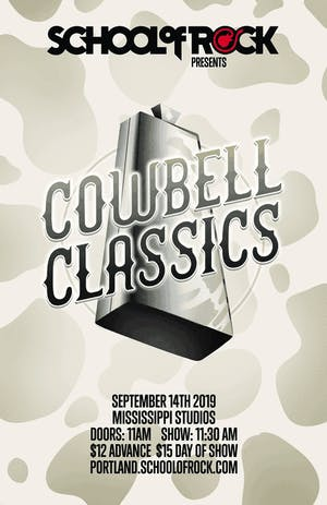 School of Rock Showcase: Cowbell Classics & tribute to  Devo VS The B-52's
