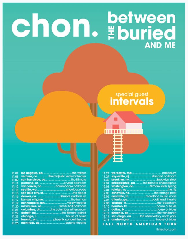 CHON and Between the Buried and Me
