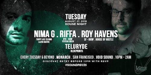 NIMA G . RIFFA . ROY HAVENS . TELURYDE — Soundpieces x Blueprints
