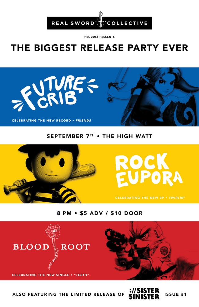 Rock Eupora / Blood Root / Future Crib Triple Release Show
