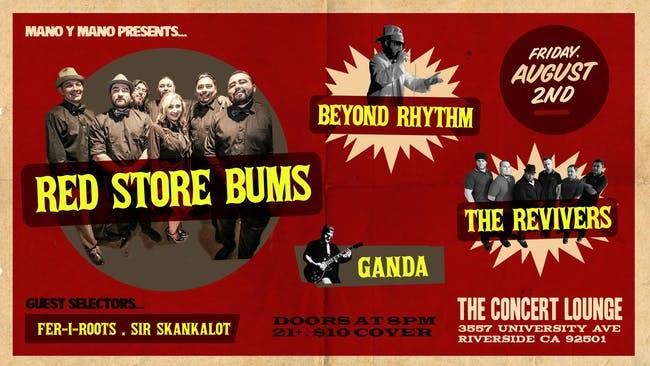 Red Store Bums w/ The Revivers & Beyond Rhythym