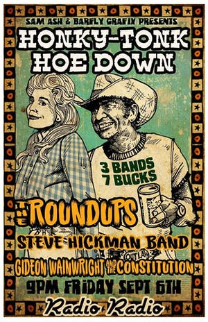 HONKY-TONK HOE DOWN TICKETS AT DOOR