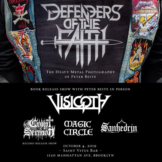 Visigoth, Crypt Sermon (Record Release!), Magic Circle, Sanhedrin