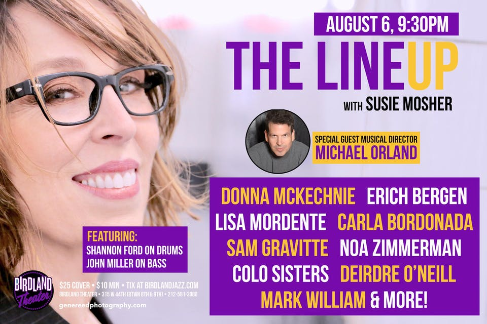 The Lineup with Susie Mosher with Guest Musical Director Michael Orland