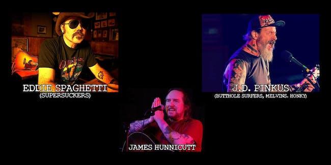 Eddie Spaghetti, J.D. Pinkus and James Hunnicutt at Jazzbones!