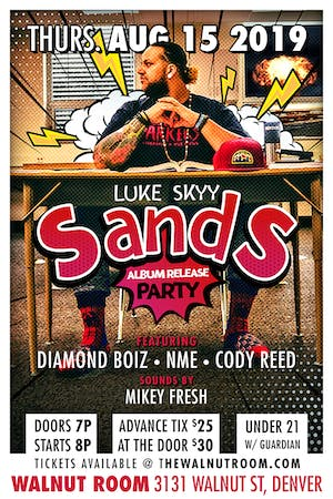 The SandS Album Release & Birthday Get Down featuring Luke Skyy and guests