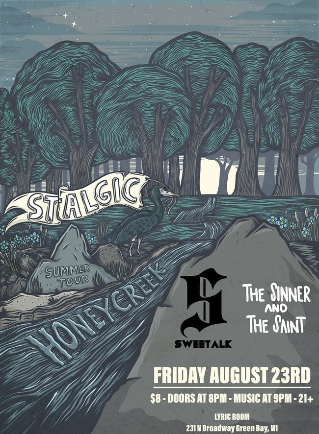 STALGIC TOUR KICKOFF w/ HONEY CREEK, SWEETALK , THE SINNER AND THE SAINT