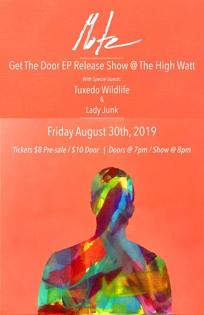 MOTE Album Release Show w/ Tuxedo Wildlife & Lady Junk