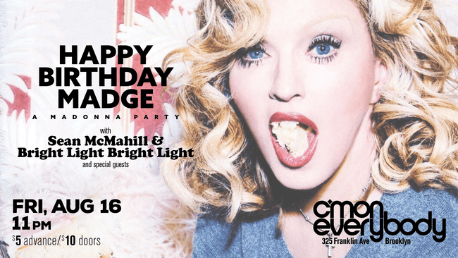 Happy Birthday Madge: A Madonna Party