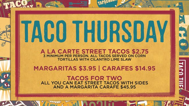 Taco Thursday Tickets Rams Head Tavern Annapolis