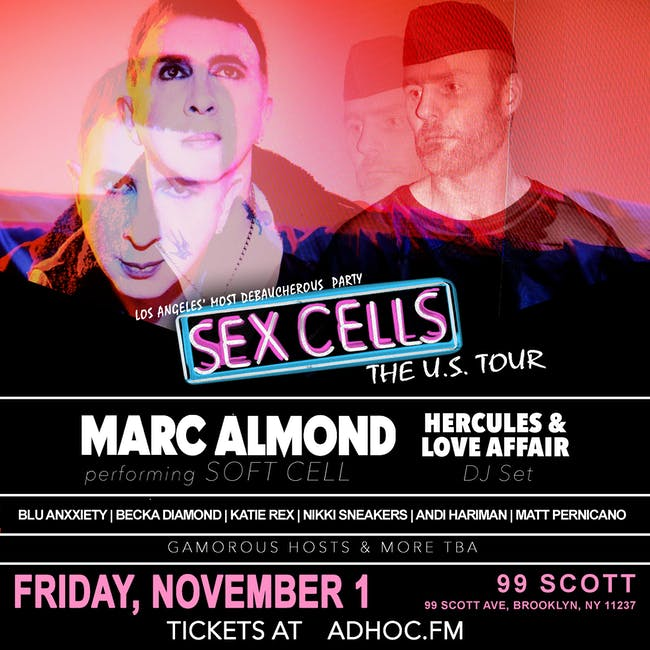Marc Almond of Soft Cell performing Soft Cell, plus Hercules & Love Affair