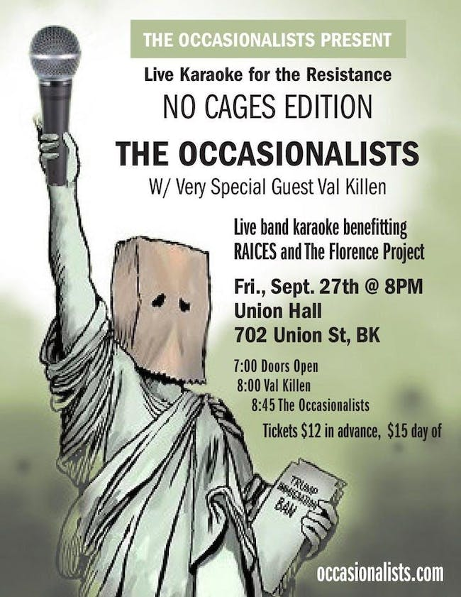 The Occasionalists: Live Band Karaoke with Val Killen