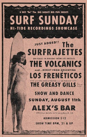 The Volcanics + The Surfragettes + Los Frenéticos, The Greasy Gills