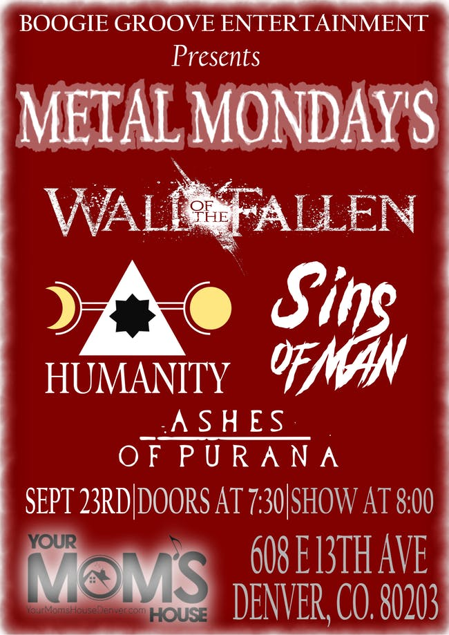 Wall of the Fallen // Humanity // Sins of Man // Ashes of Purana
