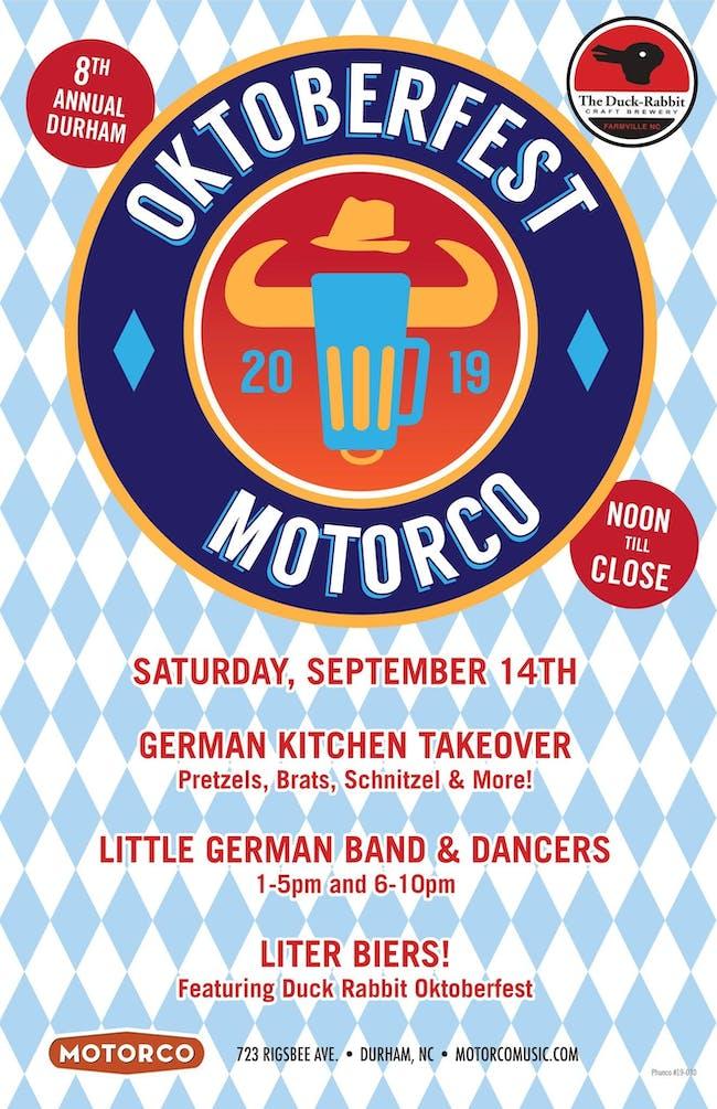 8th Annual Durham Oktoberfest featuring Little German Band