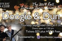 Fall Intimate Concert Series: Doogie & Dun