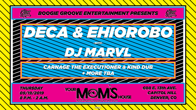 Deca & Ehiorobo w/ Carnage The Executioner & Kind Dub at YMH