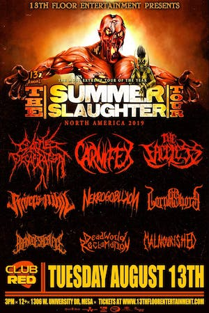 Summer Slaughter Tour 2019 -Cattle Decapitation, Carnifex & The Faceless