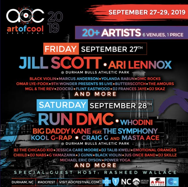 The Art of Cool Festival 2019 with Omar Lye-Fook / DMC / Zoocru
