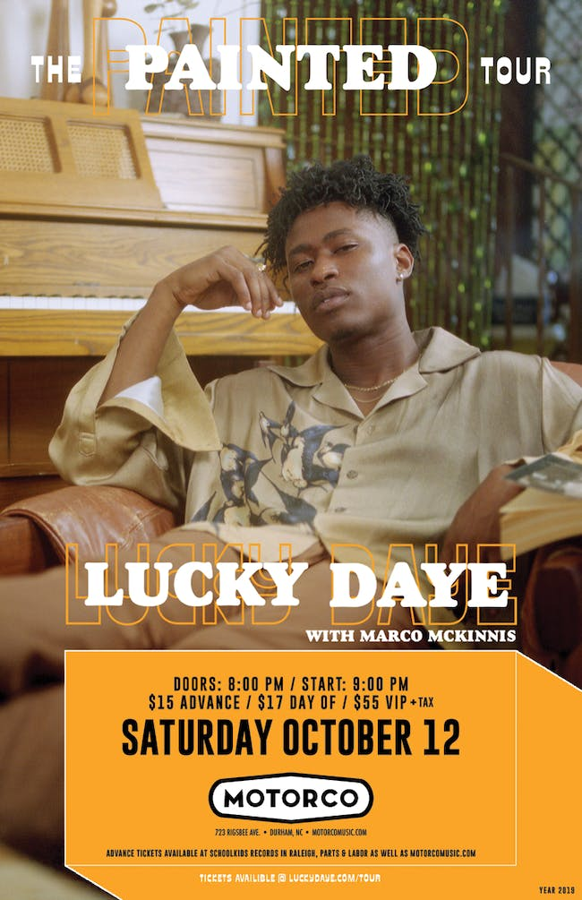 LUCKY DAYE The Painted Tour 2019 with Marco McKinnis